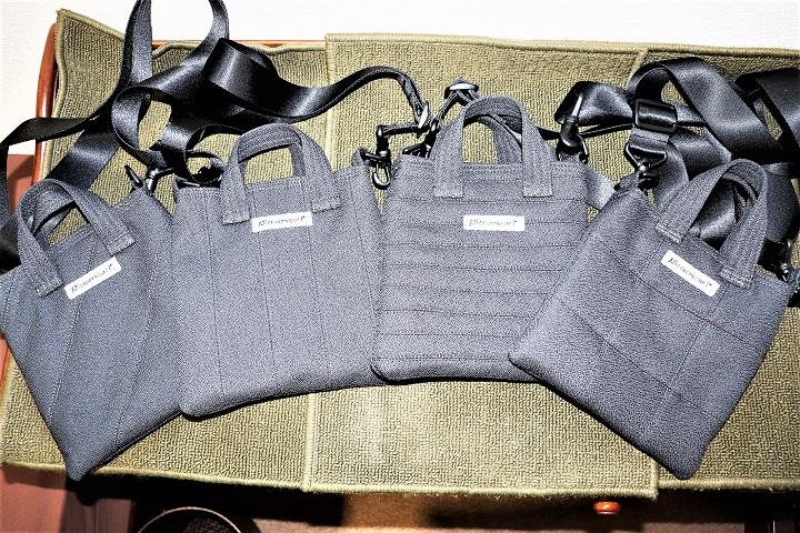 4種のパッチワーク柄がかっこいいミニショルダーバッグが完成